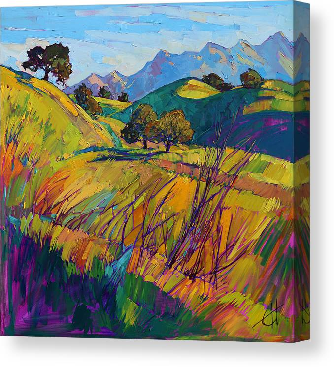 Paso Robles Landscape Canvas Print featuring the painting Color Curves by Erin Hanson