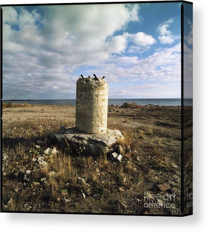 C013309 Canvas Print featuring the photograph Column Base by Ty Lee