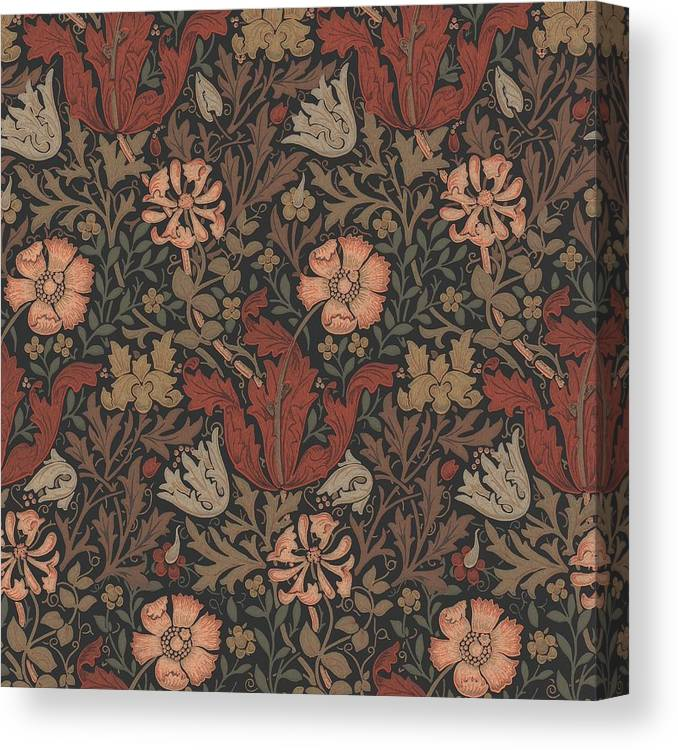 William Canvas Print featuring the tapestry - textile Compton Design by Philip Ralley