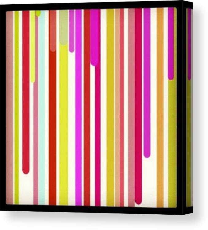 Website Canvas Print featuring the photograph #dripping #colors #css #background by Katie Ball