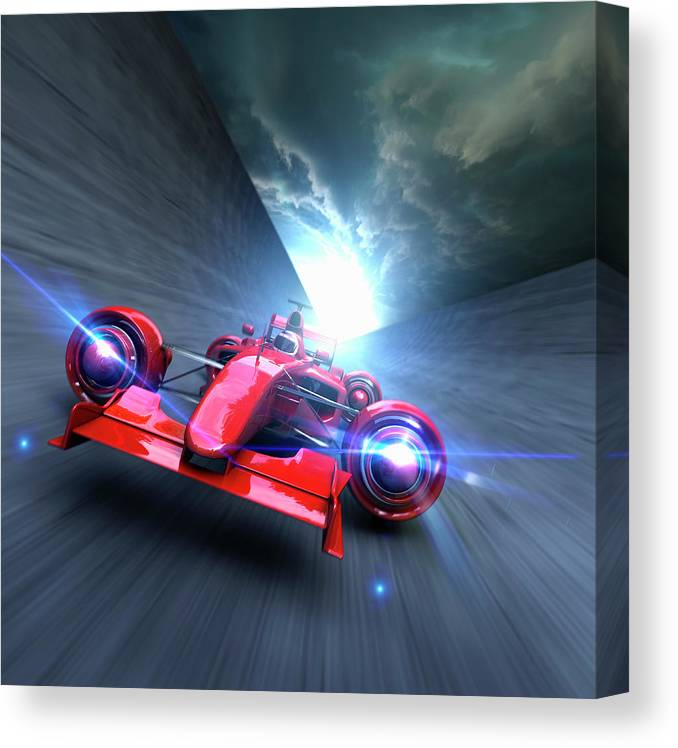 People Canvas Print featuring the photograph Extreme High Performance by Colin Anderson