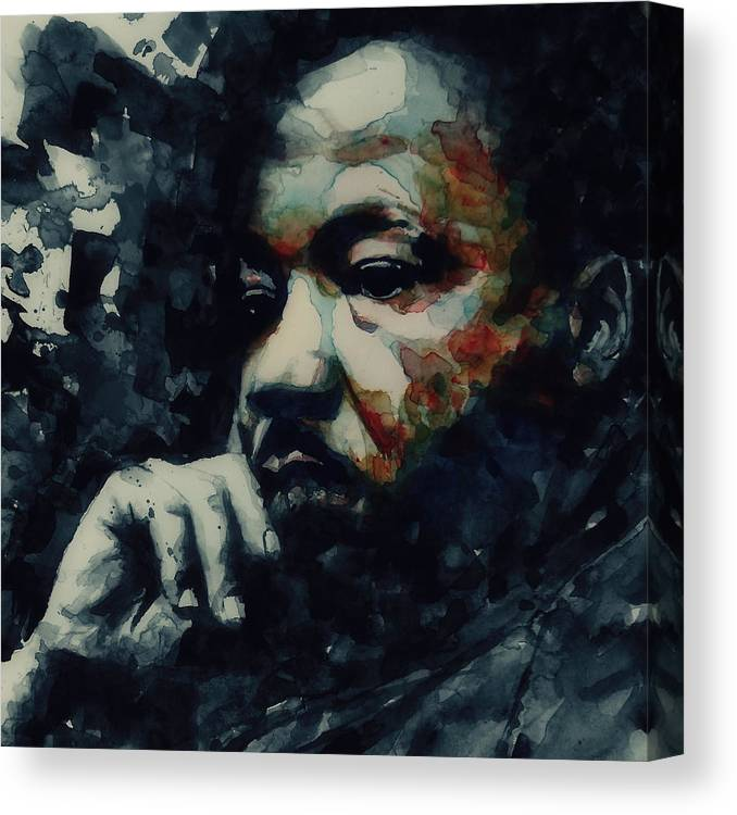 Martin Luther King Jr Canvas Print featuring the painting Martin Luther King -Forgiveness Is Not An Occasional Act It Is A Constant Attitude by Paul Lovering
