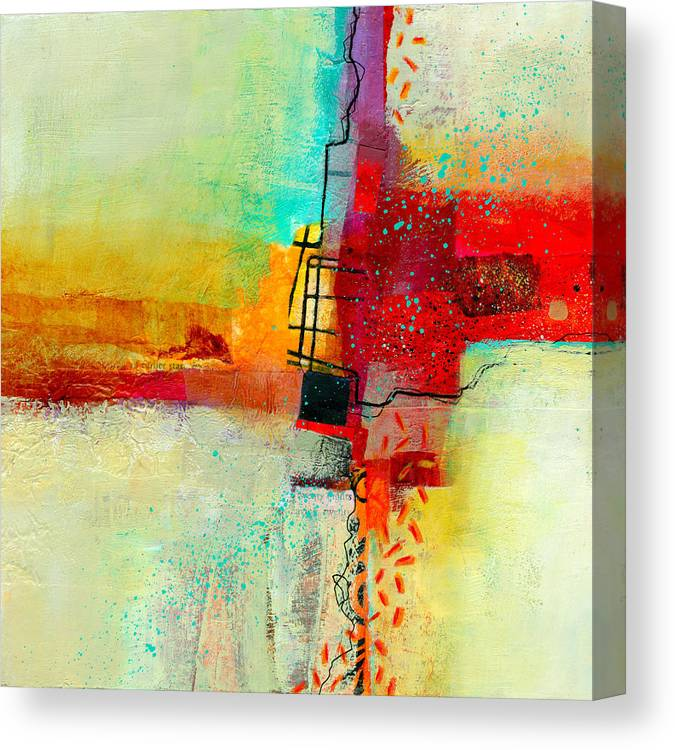 9x9 Canvas Print featuring the painting Fresh Paint #2 by Jane Davies