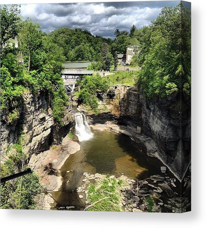 Beautiful Canvas Print featuring the photograph Gorges by Mike Maher