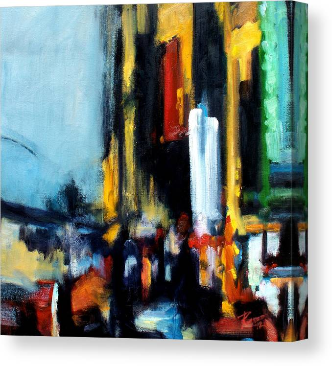 New York Canvas Print featuring the painting Gotham 3 by Robert Reeves
