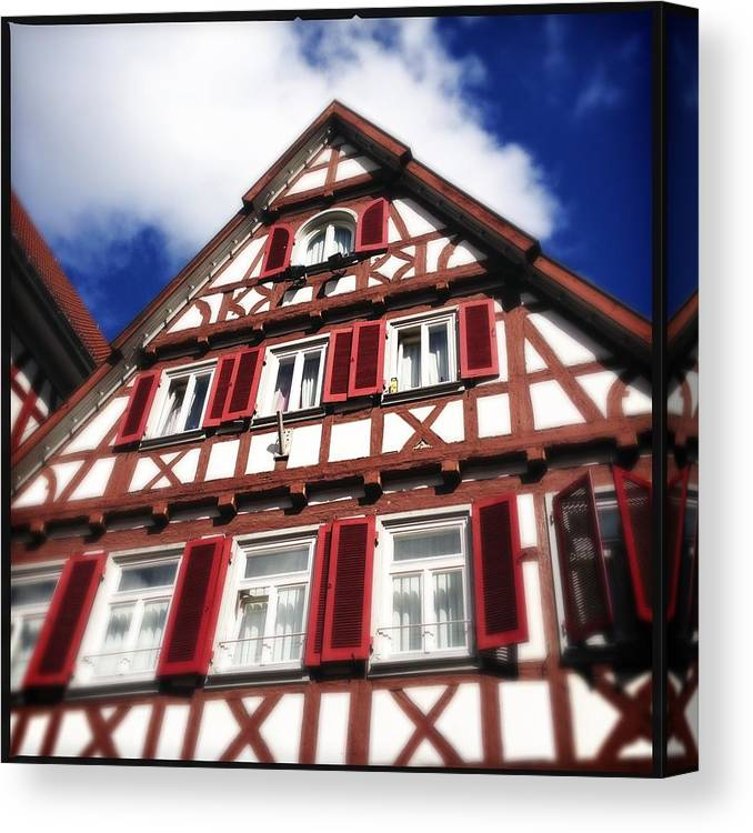 Half-timbered Canvas Print featuring the photograph Half-timbered house 09 by Matthias Hauser