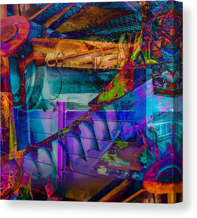Hamburg Canvas Print featuring the digital art Heavy Duty IIi by Andy Bitterer