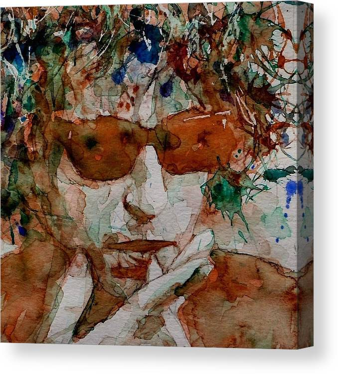 Bob Dylan Canvas Print featuring the painting Just Like A Woman by Paul Lovering