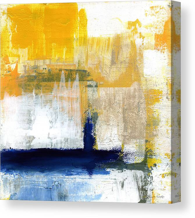Abstract Canvas Print featuring the painting Light Of Day 4 by Linda Woods