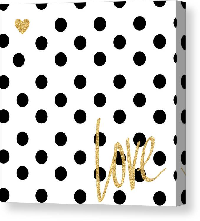 Love Canvas Print featuring the digital art Love With Dots by South Social Studio