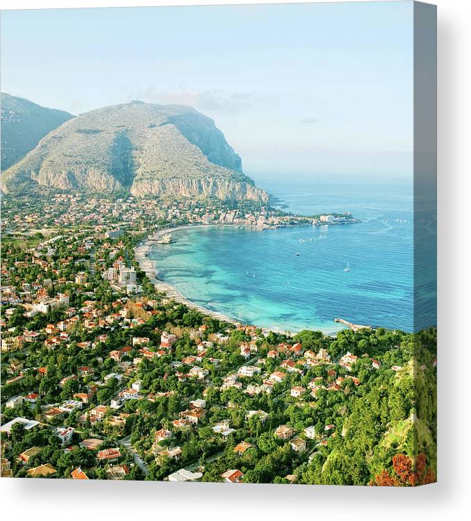 Sicily Canvas Print featuring the photograph Mediterranean View by Peeterv