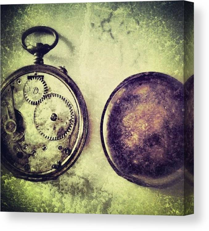 Europe Canvas Print featuring the photograph #mgmarts #watch #time #bestogram by Marianna Mills