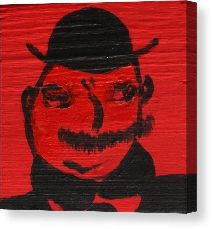Ulysses Canvas Print featuring the painting Mr Poldy Bloom by Roger Cummiskey