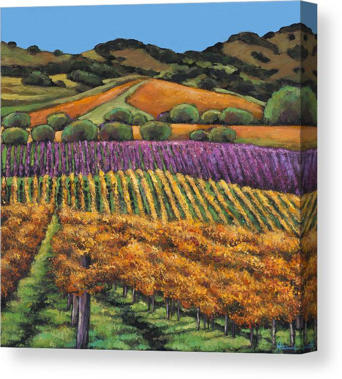 Landscape Canvas Print featuring the painting Napa by Johnathan Harris