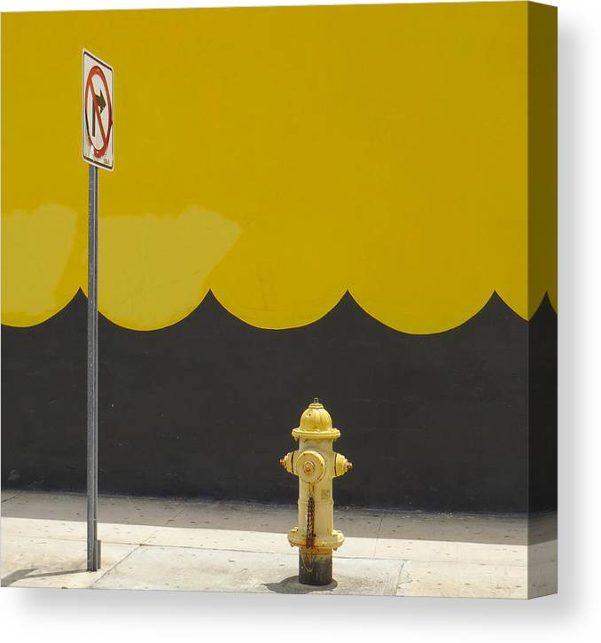 Miami Canvas Print featuring the photograph No Right Turn by Dart and Suze Humeston