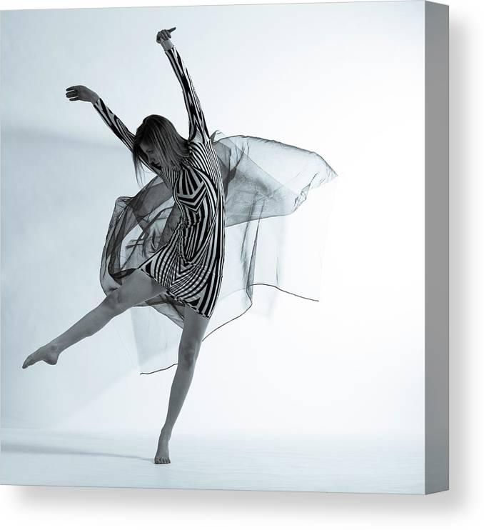 Ballet Dancer Canvas Print featuring the photograph Photofusion Shoot Jan 2013 by Maya De Almeida Araujo