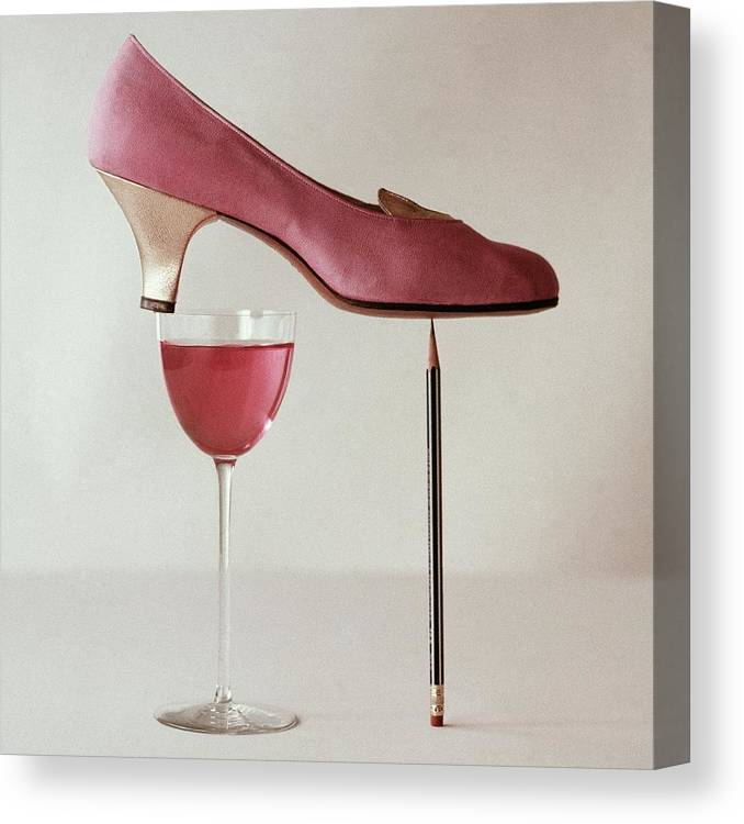 Accessories Canvas Print featuring the photograph Pink Capezio Pump by Richard Rutledge