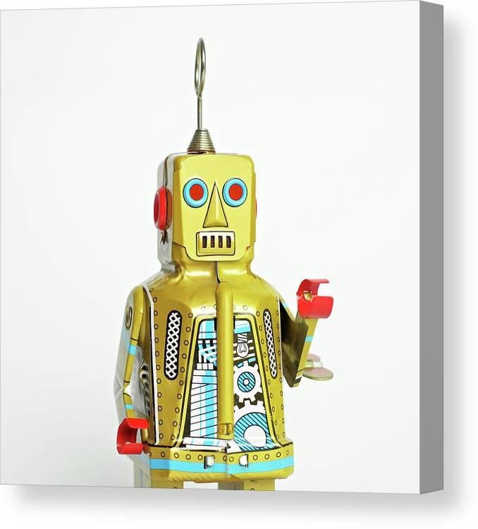 Cut Out Canvas Print featuring the photograph Robots by Juj Winn