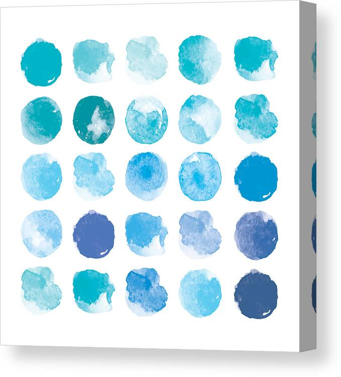 Art Canvas Print featuring the digital art Set Of Colorful Watercolor Hand Painted by Irinabogomolova