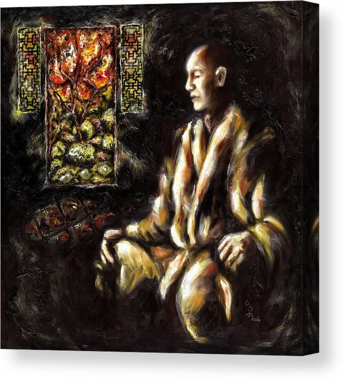 Zen Canvas Print featuring the painting Silence by Hiroko Sakai