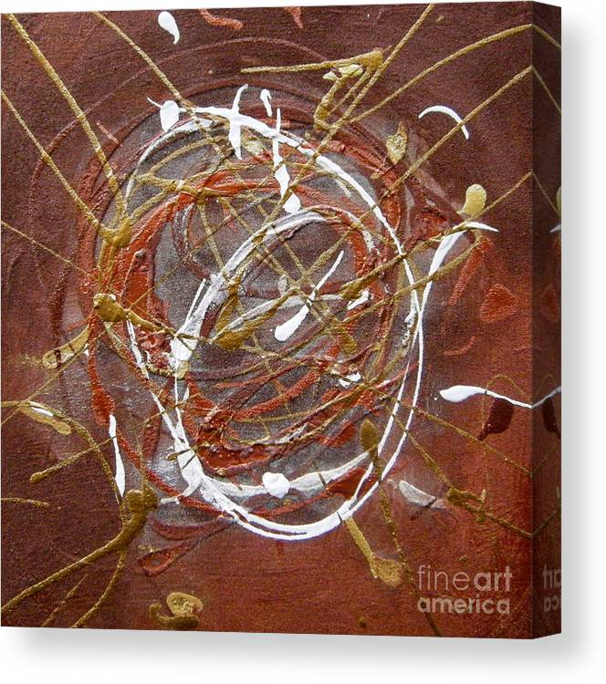 Bronze Canvas Print featuring the painting Solaris One by Holly Picano