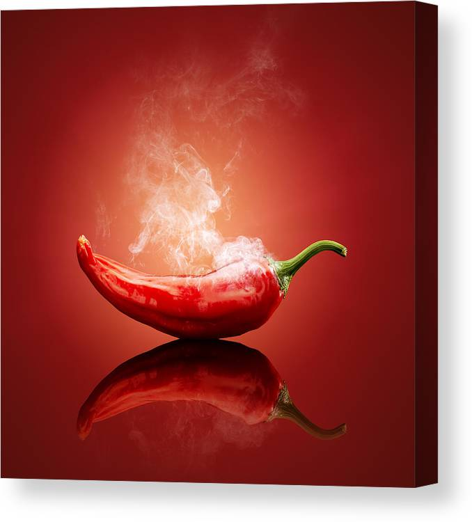Chilli Canvas Print featuring the photograph Steaming hot Chilli by Johan Swanepoel