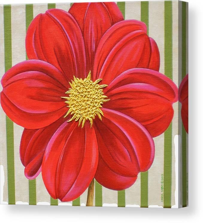 Acrylic Canvas Print featuring the painting Stripes-Dahlia II by Carol Sabo