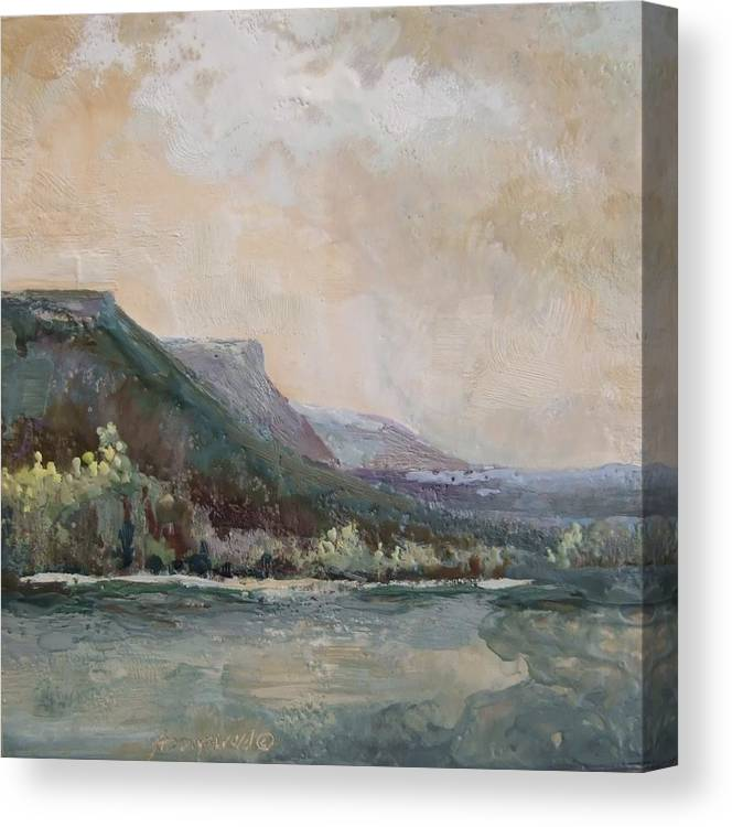 Mountains Canvas Print featuring the painting Summer Buttes by Ruth Stromswold