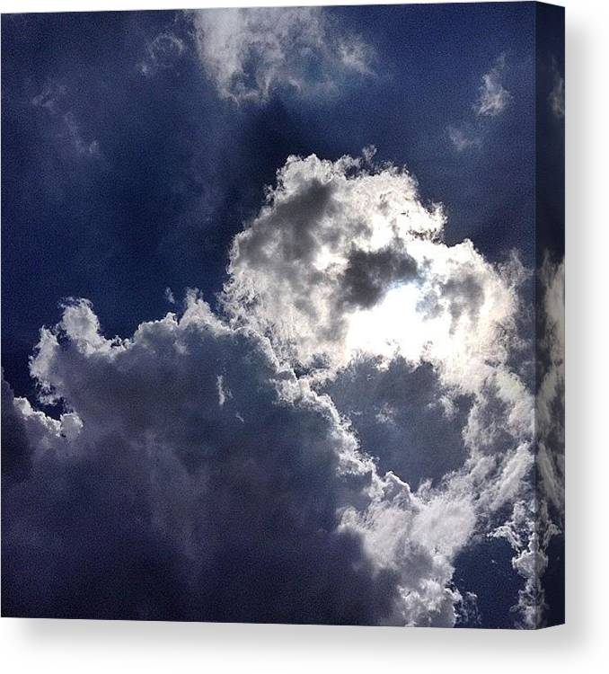 Nature Canvas Print featuring the photograph Summer Sky by Nic Squirrell