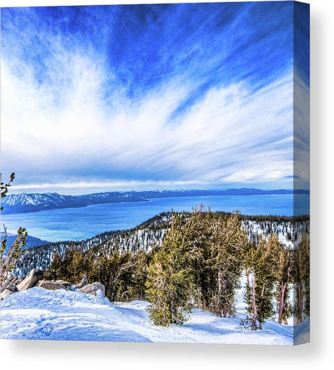 Scenics Canvas Print featuring the photograph Tahoe From Heavenly by Peter Stasiewicz
