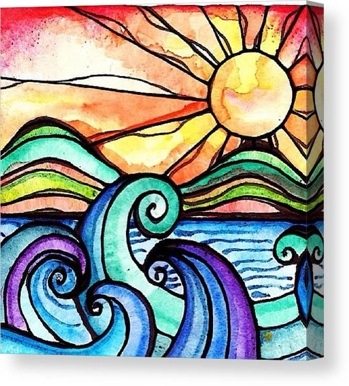 Art Canvas Print featuring the photograph Tequila Sunrise #aceo #artcard #art by Robin Mead