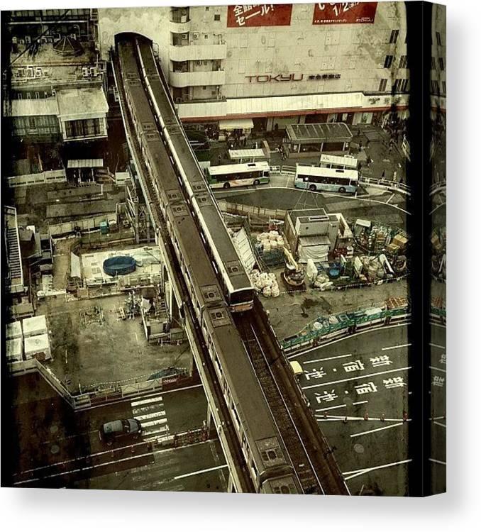 Japan Canvas Print featuring the photograph #tokyo#landscape#japan by Tokyo Sanpopo
