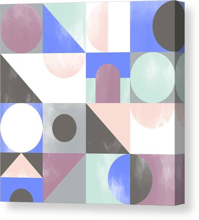Pattern Canvas Print featuring the painting Toy Blocks by Laurence Lavallee