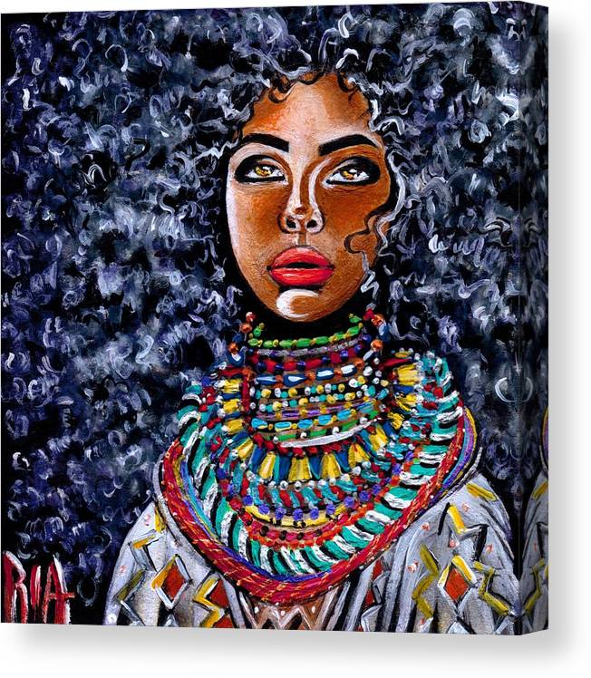 Artbyria Canvas Print featuring the photograph Untamed Beauty by Artist RiA