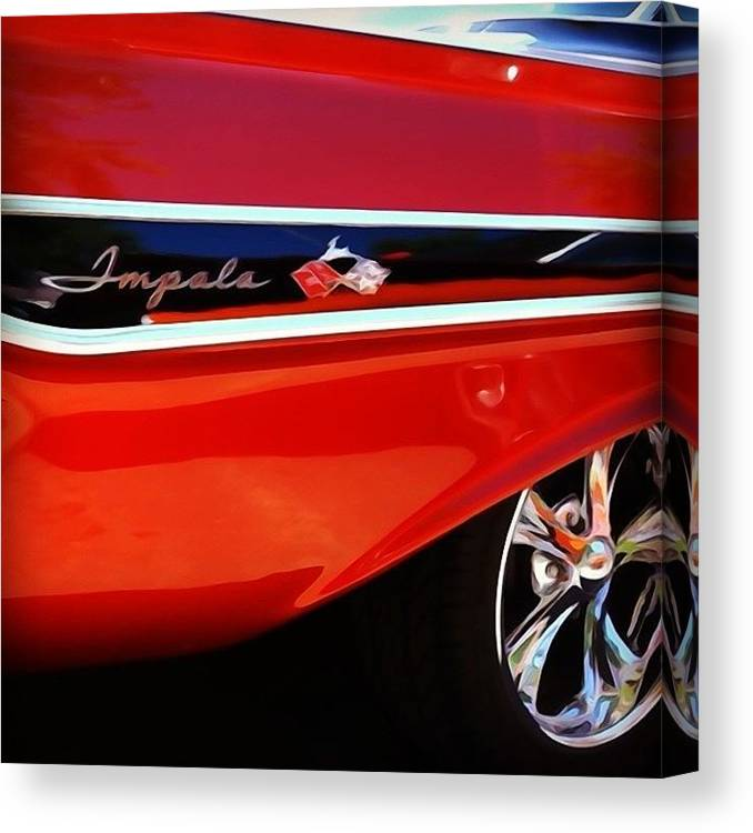 Classic Car Canvas Print featuring the photograph Vintage Impala by Heidi Hermes