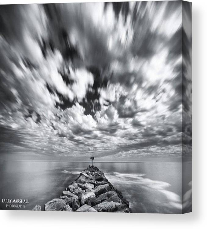 Canvas Print featuring the photograph We Have Had Lots Of High Clouds And by Larry Marshall