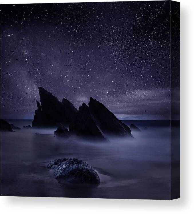 Night Canvas Print featuring the photograph Whispers of eternity by Jorge Maia