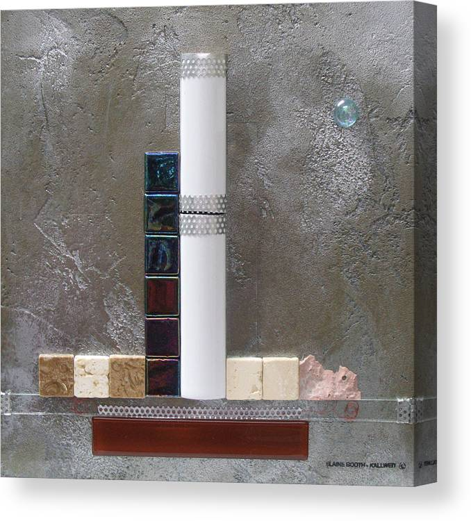 Assemblage Canvas Print featuring the relief White Tower by Elaine Booth-Kallweit