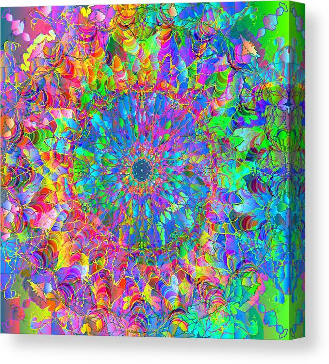 Mandala Canvas Print featuring the digital art 2012-05-15-3 by Peter Shor