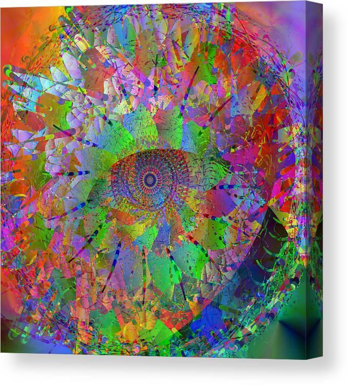 Mandala Canvas Print featuring the digital art 2012-10-26-10c by Peter Shor