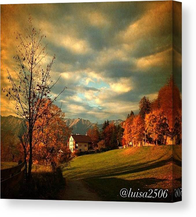 Beautiful Canvas Print featuring the photograph Autumn In South Tyrol by Luisa Azzolini