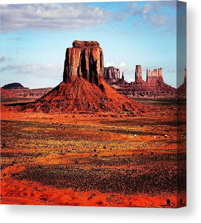 Monumentvalley Canvas Print featuring the photograph Monument Valley by Luisa Azzolini