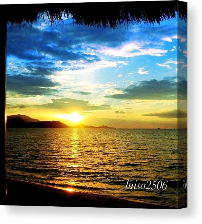 Beautiful Canvas Print featuring the photograph Tropical Sunset by Luisa Azzolini