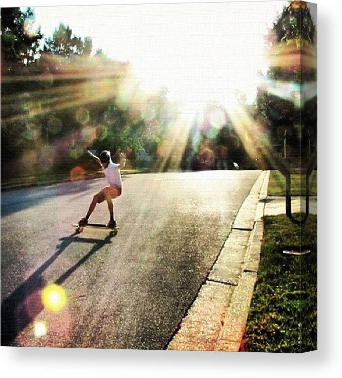 Amazing Canvas Print featuring the photograph Absolutely Amazing Picture By by Sweden Longboards