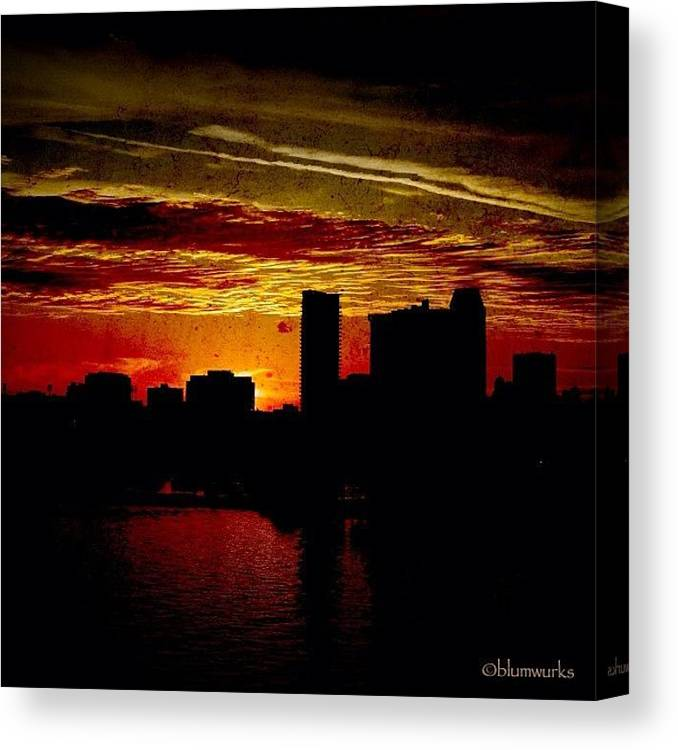 Building Canvas Print featuring the photograph And Yet Another Day Closes by Matthew Blum