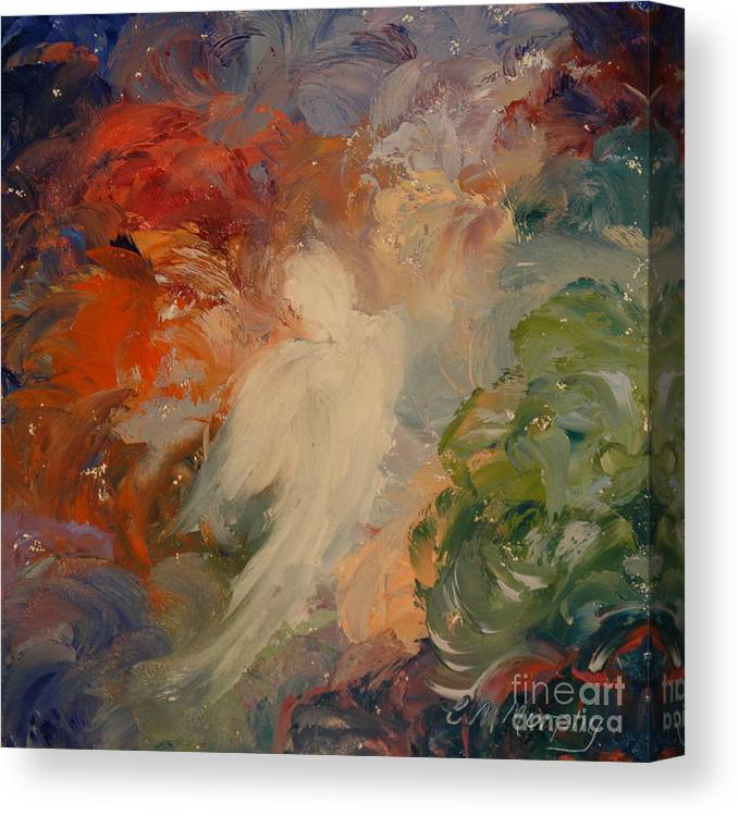 Angel Canvas Print featuring the painting Angel Visions 2 by Colleen Murphy