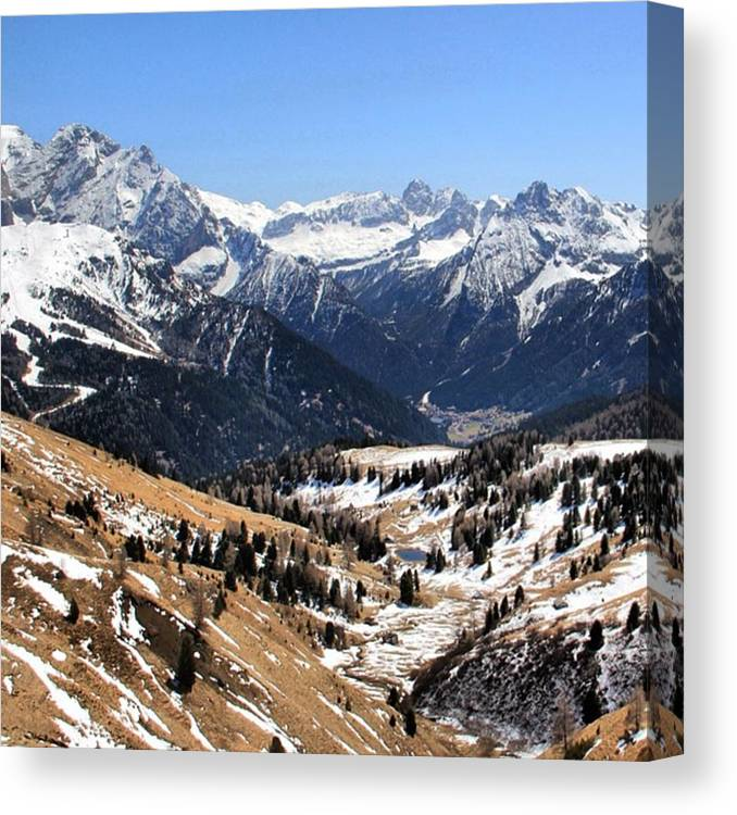 Dolomites Canvas Print featuring the photograph Dolomite's landscape by Luisa Azzolini