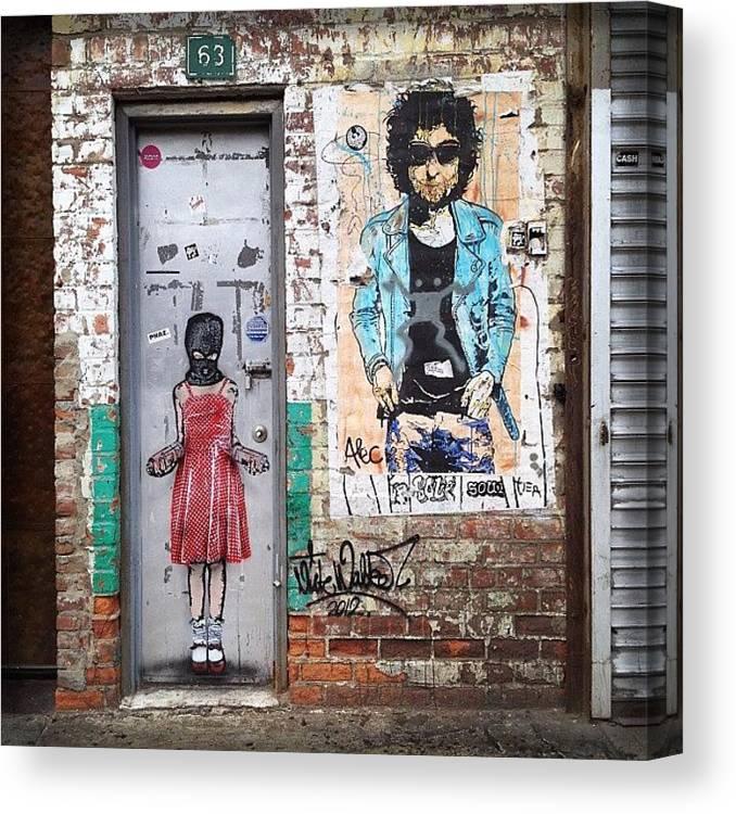 Summer Canvas Print featuring the photograph Graffiti Artist by Randy Lemoine