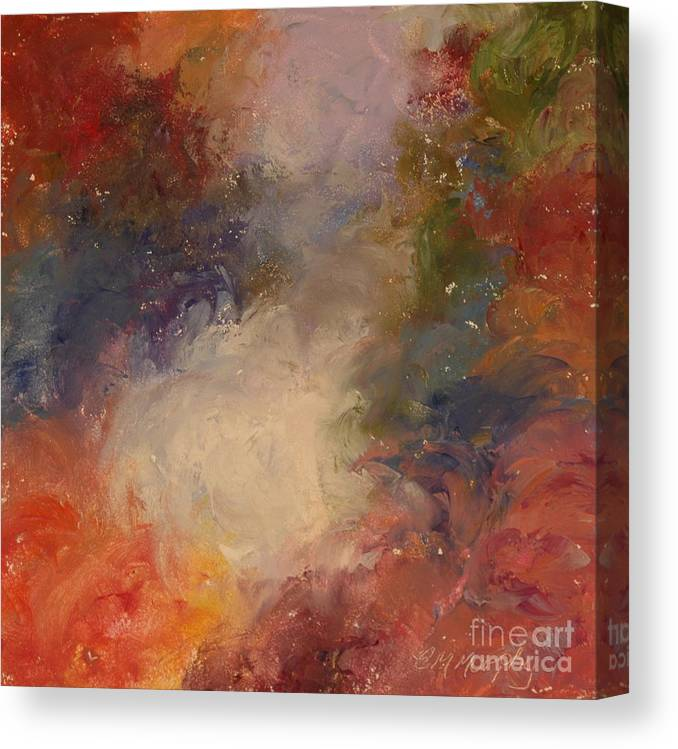 Angel Canvas Print featuring the painting In the Beginning by Colleen Murphy
