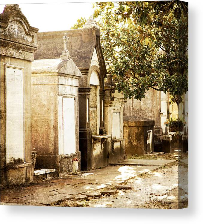 New Orleans Canvas Print featuring the photograph New Orleans Lafayette Cemetery No.1 by Kim Fearheiley